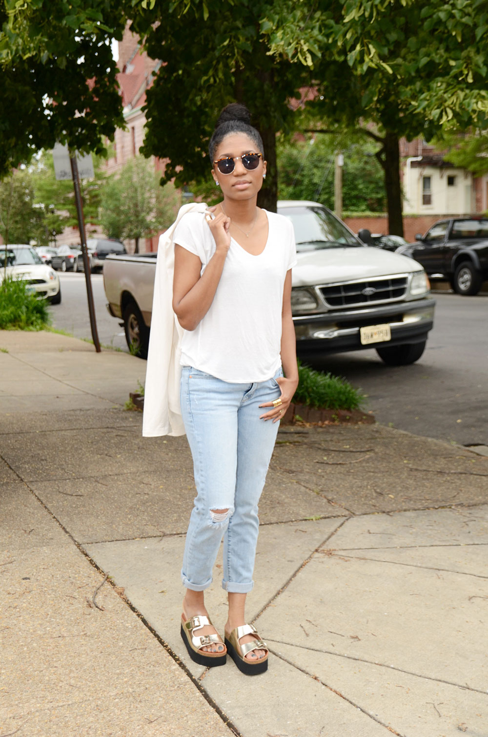 Sixty Seven Indigo Sandal | Four One Oh! | Baltimore Fashion Blogger