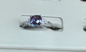 jewels alexandrite birth stone ring petite