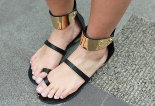 shoes sandals style gold sequins