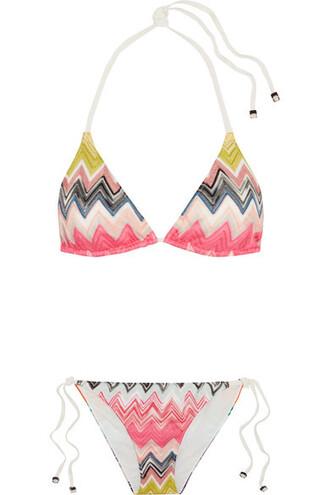 bikini knit pink crochet swimwear