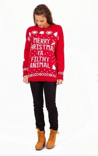 merry christmas sweater christmas boho snow tree snowflake pattern stripes polka dots heart ya filthy animal home decor alone movie life cozy ugly christmas sweater