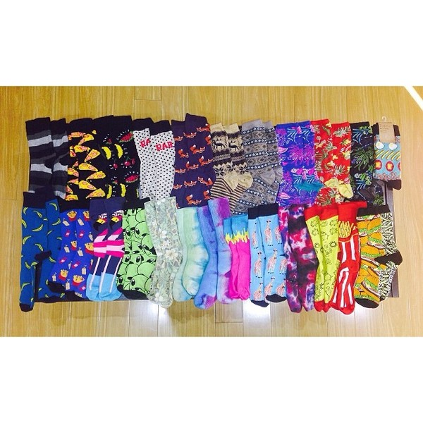underwear socks rainbow hipster hippie colorful art shoes cool weird quirky pattern print