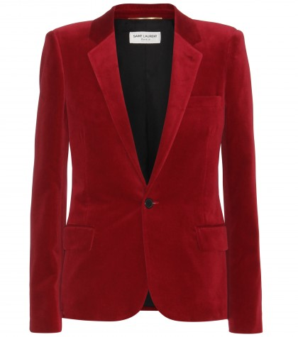 mytheresa.com -  Velvet blazer  - Blazers - Jackets - Clothing - Luxury Fashion for Women / Designer clothing, shoes, bags