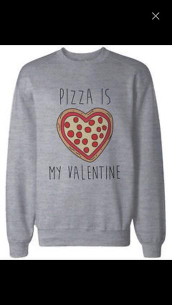 sweater pizza treny dope grey sweater
