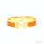 Hermes Inspired Enamel Clic H Bracelet Orange Black / TheFashionMRKT