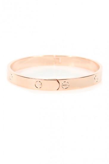 LoveMelrose.com From Harry & Molly | Designer Look Bracelet - Rose Gold