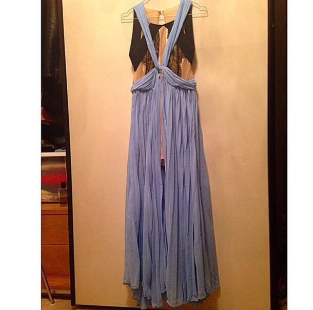 dress blue dress three floor dress long dress lace dress