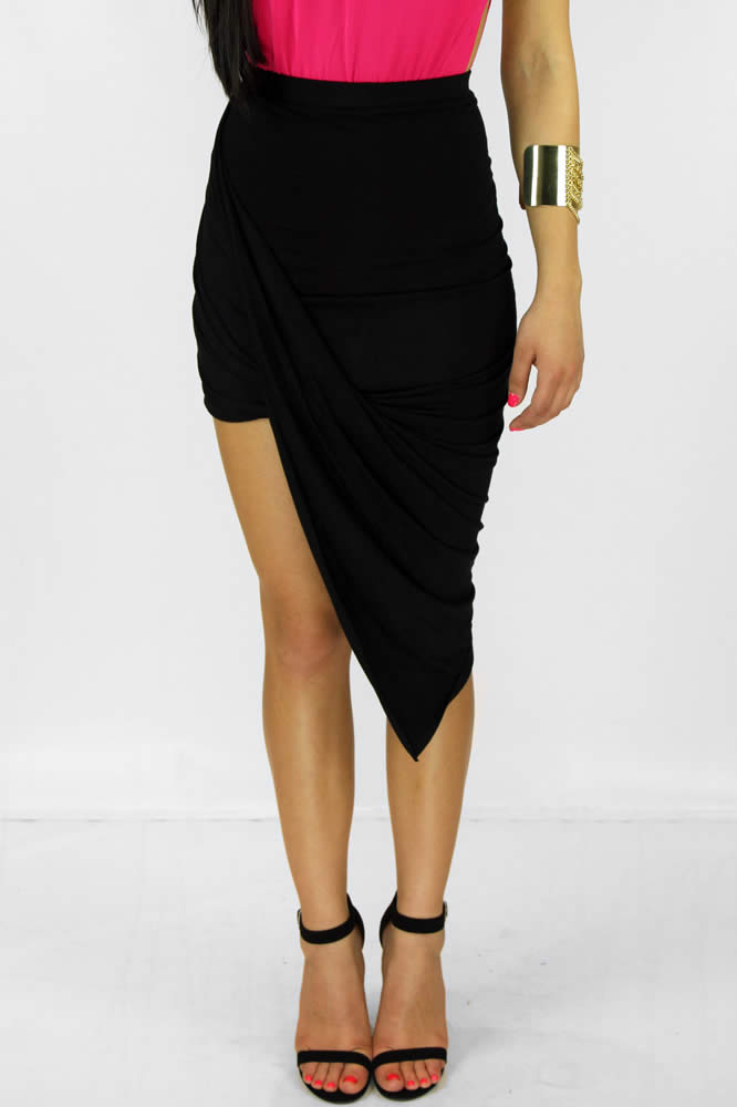 Wrap me skirt-Black : Current Fashion Trends & Styles