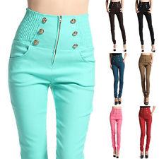 High Waist Zipper Pants | eBay