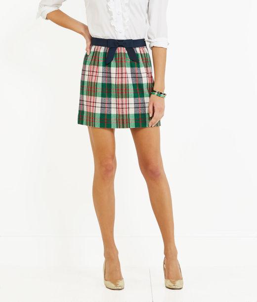 Women's Skirts: Tartan Bow Skirt for Women - Vineyard Vines