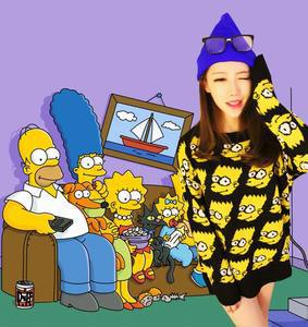 FOREVER1991 Fashion Women Bart Simpson Pullover Sweater Knit Top Shirt Free Shipping-in Pullovers from Apparel & Accessories on Aliexpress.com