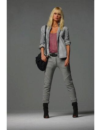pants joggers fashion sportswear grey cute jersey duffel