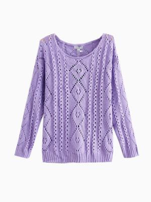 Knit Purple Sweater | Choies