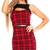 Hestia Tartan Bodycon Dress In Red