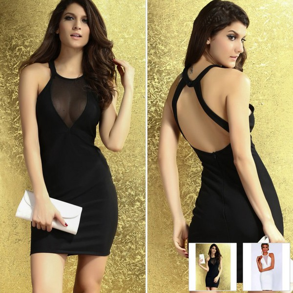 sexy women dress women clothing backless dress backless prom dress club dress celebrity style celebrity style black dress mini dress dress party dress women fashion dress