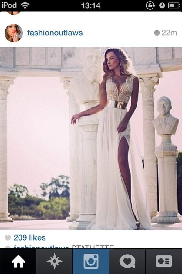 dress pretty low long lace