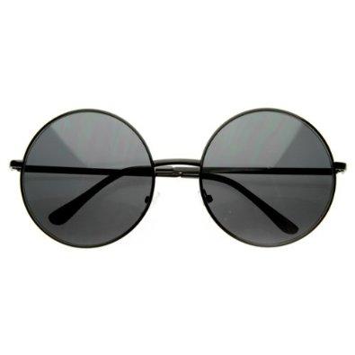 Amazon.com: Designer Inspired Super Large Oversized Metal Round Circle Sunglasses: Shoes