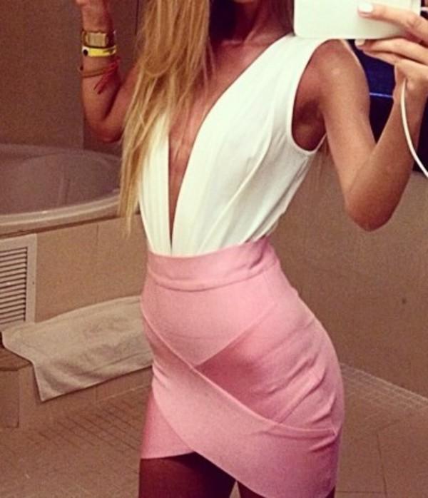 dress pink dress skirt