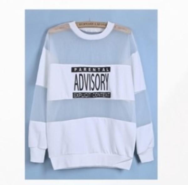 sweater sweatshirt parental advisory explicit content
