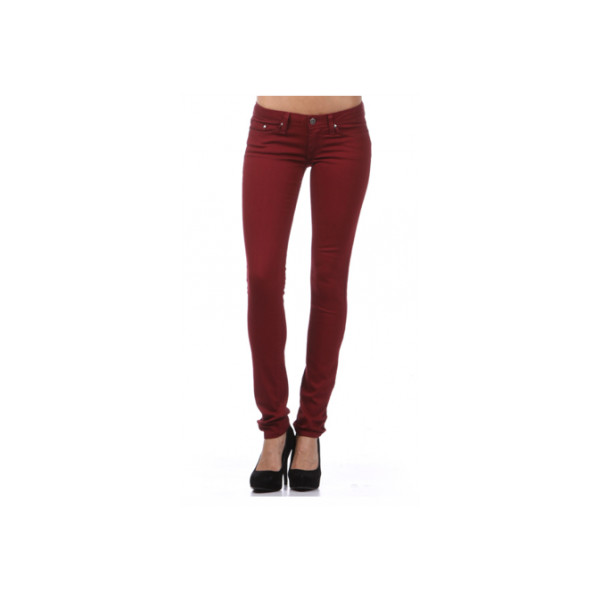 Maroon Colored Skinny Jeans - Polyvore