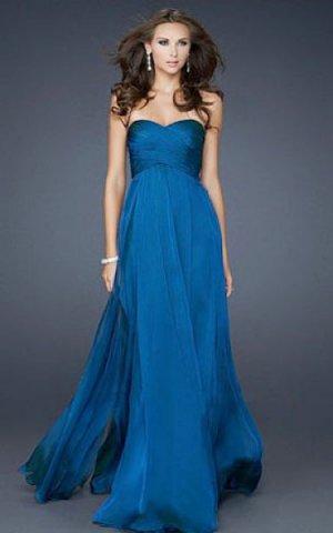 La Femme 17111 Strapless Draped Long Prom Dresses [blue long prom dress] - $148.00 : Cheap La Femme Dresses, La Femme Dresses On Sale