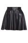 wet look flip skirt | Factorie