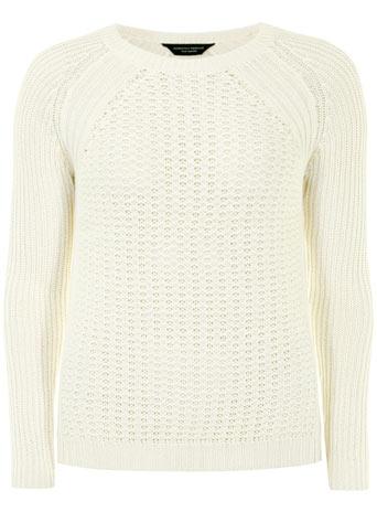 Ivory rib sleeve raglan jumper - Casual Wear  - Clothing  - Dorothy Perkins