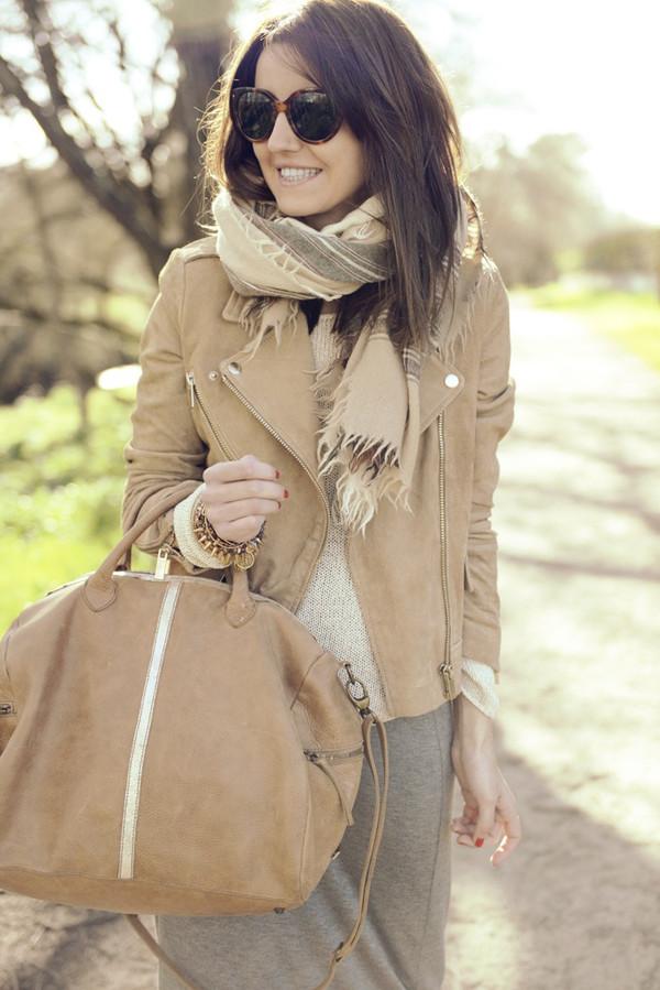 lovely pepa skirt sweater jacket bag jewels sunglasses
