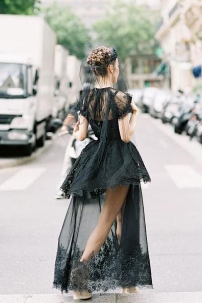 dress black dress long