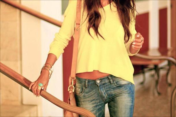 blouse yellow yellow top