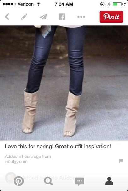 shoes beige slouchy boots suede