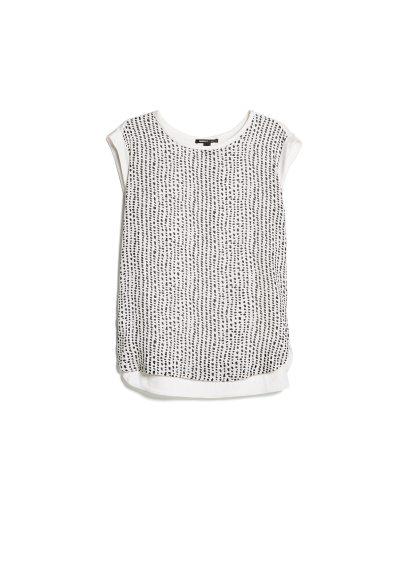 chiffon panel t-shirt