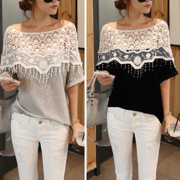 blouse lace blouse lace blouses lace top lace up lace crop top lace shirt