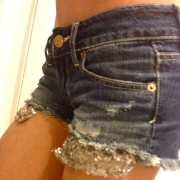 shorts shorts with sequin pockets