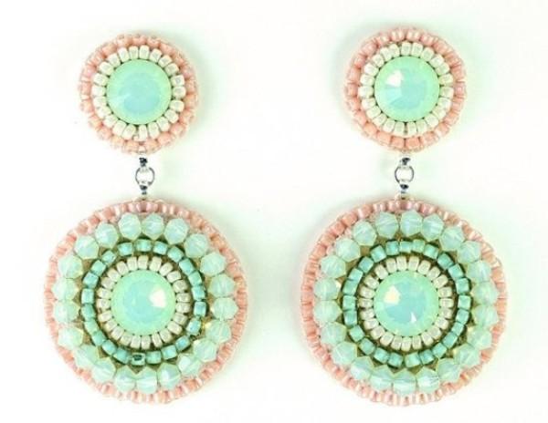jewels mint coral earings