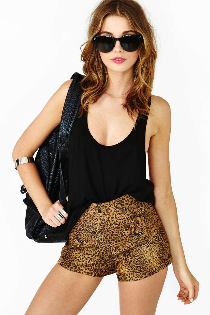 Lucca Couture Deep Jungle Shorts in  Clothes Sale at Nasty Gal