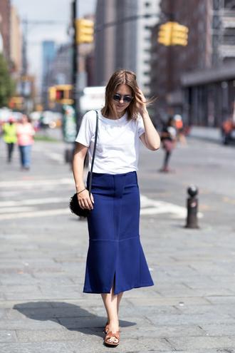t-shirt bag skirt sunglasses blogger after drk