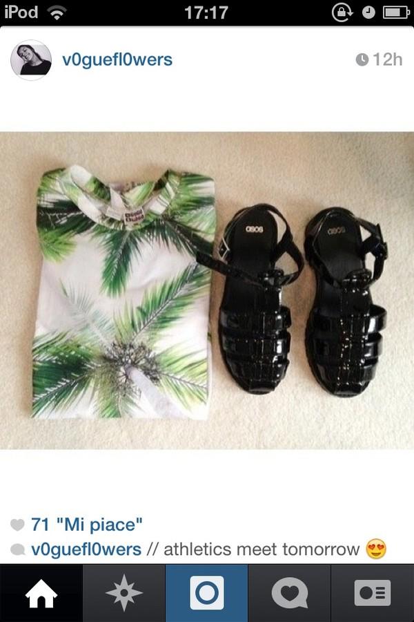 t-shirt palm tree print palm tree summer shoes