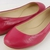 Vera Wang Lara Cerise Soft Leather Womens Designer Shoes Ballet Flats 7 | eBay