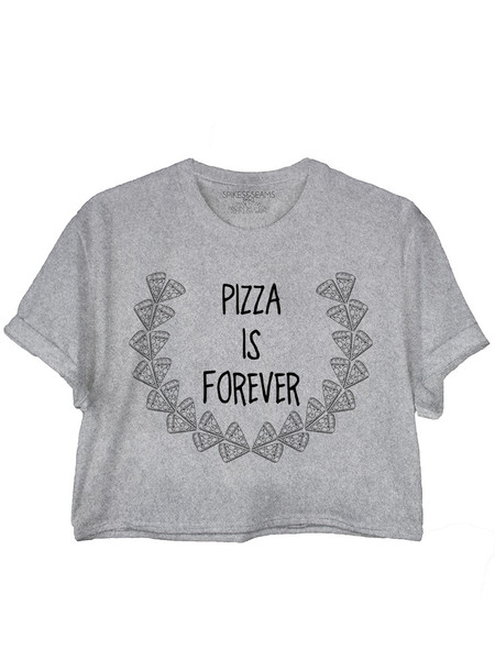 Pizza Crop Tee                             Spikes and Seams