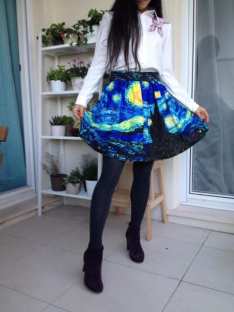 skirt starry night