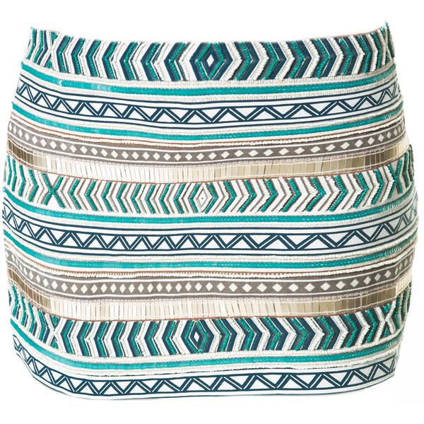 Zara Embroidered Skirt - Polyvore