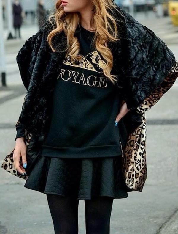 coat t-shirt skirt