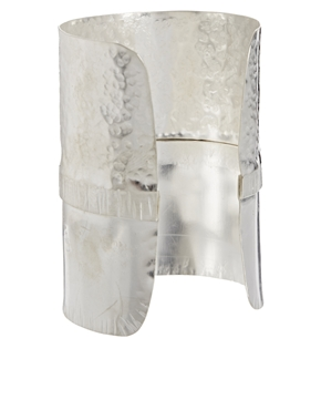 Made   Made Fundo Silver Long Cuff Bracelet at ASOS