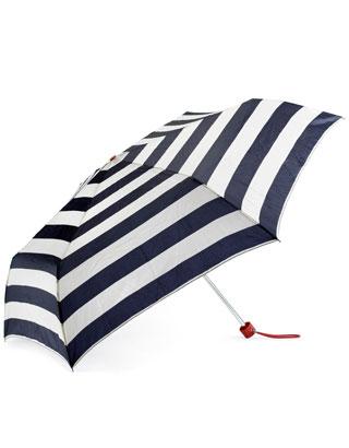 Nautical Slim Stripe Super Slim Umbrella | Navy | Accessorize