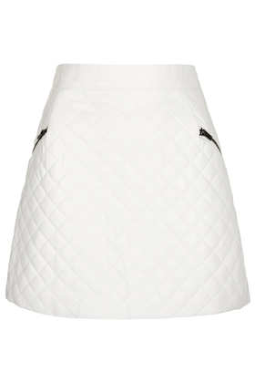 Petite Quilted Aline Skirt - Petite  - Clothing  - Topshop