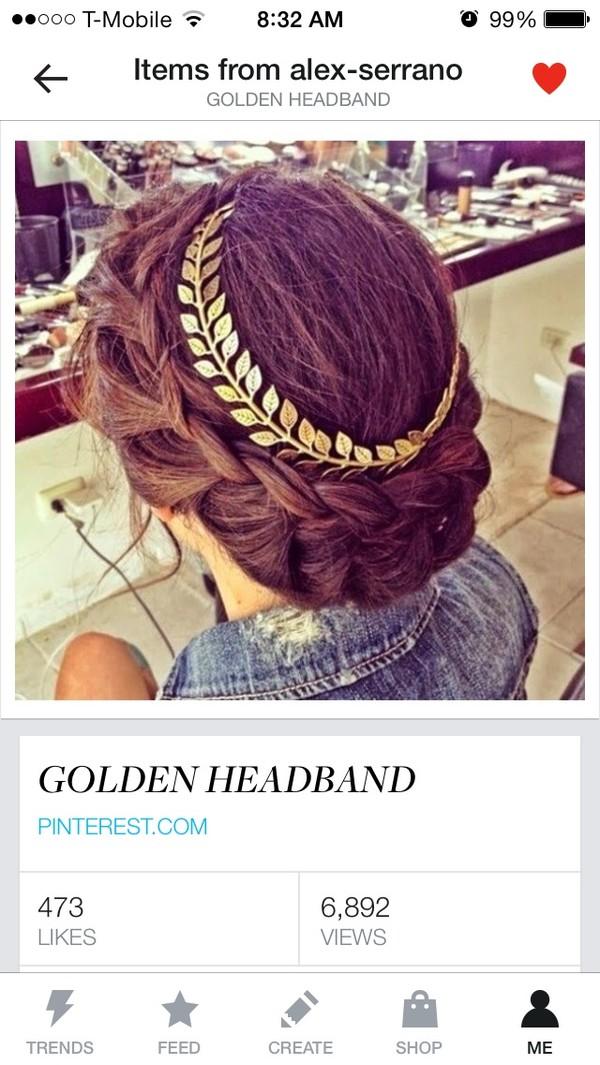 jewels gold headband