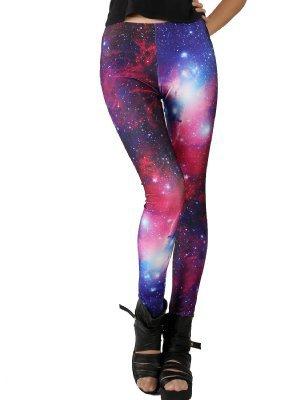 Pink Queen Women's Galaxy Print Legging on Wanelo