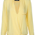 ROMWE | Asymmetric Crossed Pocketed Yellow Shirt, The Latest Street Fashion
