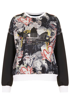 **Print Sweatshirt by Topshop x adidas Originals - Topshop USA